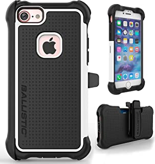 iPhone 7 Case, Ballistic [Tough Jacket Maxx] Heavy Duty Protection Black & White Case for Apple iPhone 7 Drop Test Certified 8ft Impact Drop Protection Rugged Rotating Holster Clip & Screen Protector