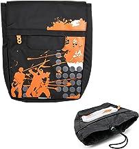 DURAGADGET Premium Quality Black & Orange Patterned Shoulder Bag - Compatible with Archos 97 Carbon | 97 Xenon | Arnova 10...