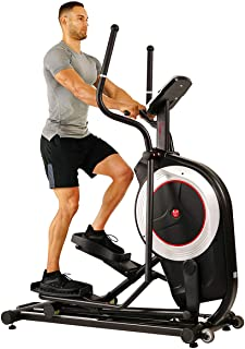 Sunny Health & Fitness Electric Eliptical Trainer Elliptical Machine w/Devicec Holder, Programmable Monitor and Heart Rate Monitoring, 300 LB Max Weight and 20