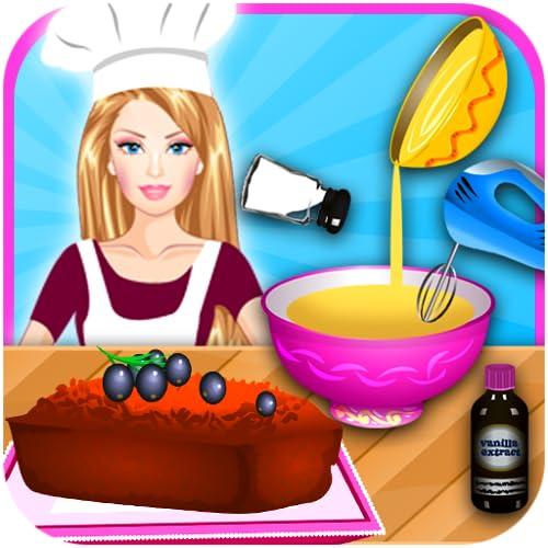Mädchen Chef Kochen Banane Brot