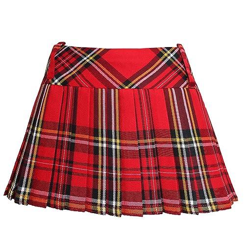 aa431c903ac Ladies Women Girls Scottish 12 Inches Tartan Check Pleated Mini Short Kilt Skirt  6 Colours