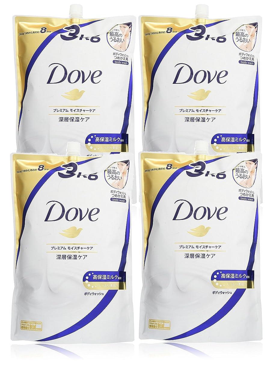 イブパット罰【ケース販売】 Dove(ダヴ) ボディウォッシュ プレミアム モイスチャーケア つめかえ用 3kg×4個
