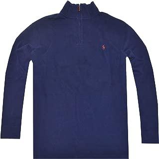 Polo Ralph Lauren Men's Half Zip French Rib Pony Logo Cotton Pullover Sweater