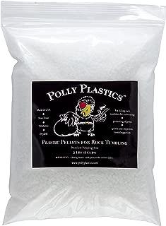 Polly Plastics Polypropylene Plastic Poly Pellets Rock Tumbling Media Rock Tumbler Filler Beads in Heavy Duty Resealable Bag (2 lb)