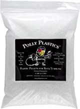 Polypropylene Plastic Poly Pellets Rock Tumbling Media | Polly Plastics Rock Tumbler Filler Beads in Heavy Duty Resealable...