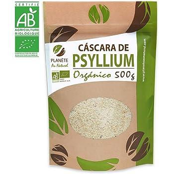 Cáscara de Psyllium Ecológico [99% Pureza] 1 Kg. Psyllium Husk ...