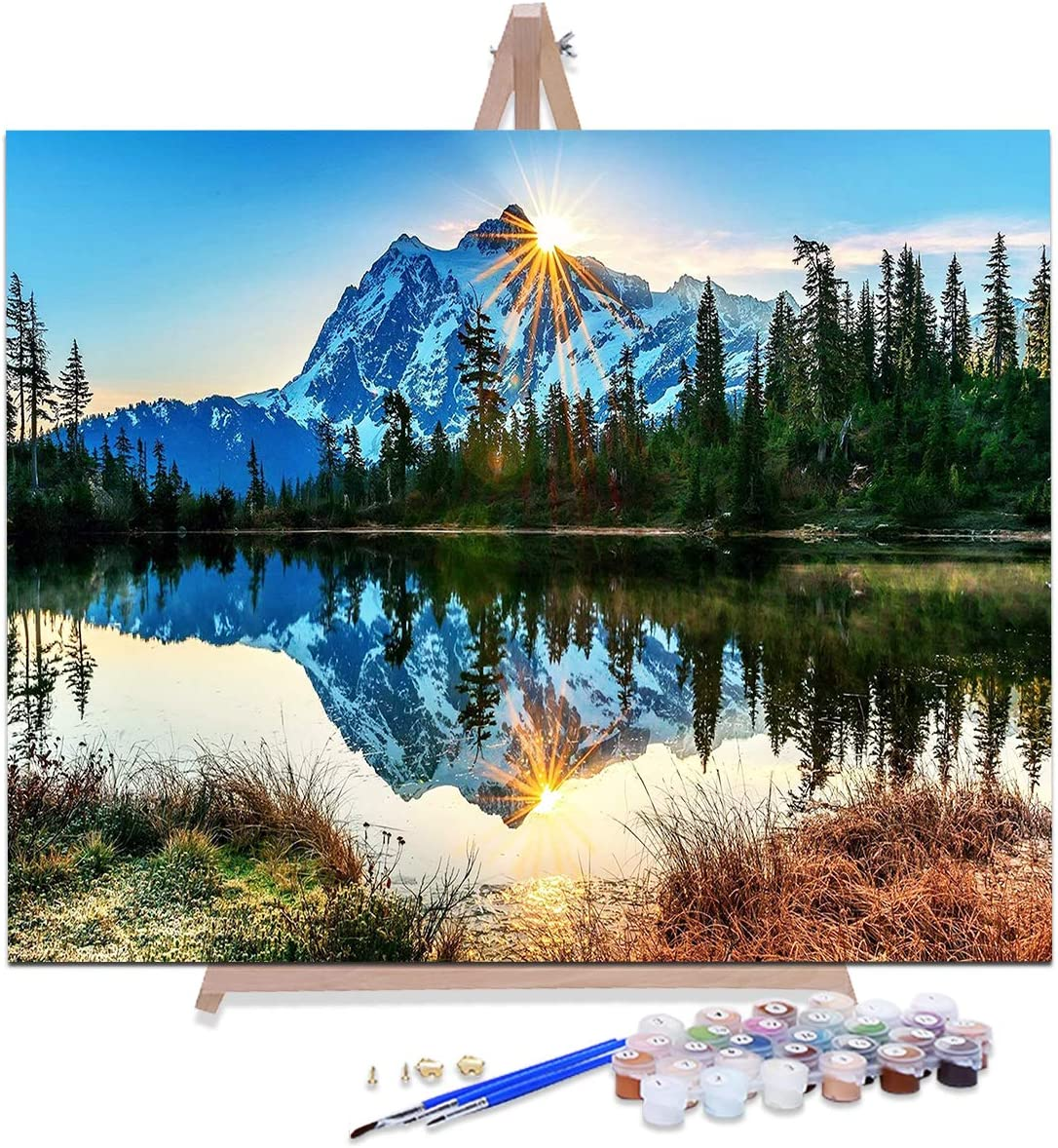 AOLIGE 16 by Max 44% OFF 20 Manufacturer regenerated product Inch Paint Adults Framed for Eas Numbers with
