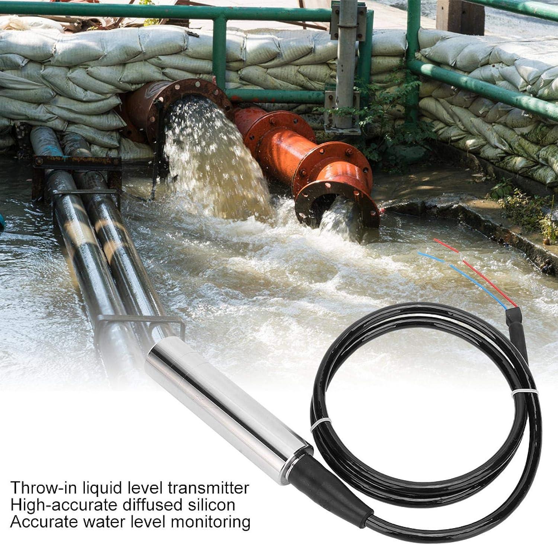 1 Meter Line 1 Meter Range Transmisor de nivel de l/íquido Marhynchus DC24V Sensor de tiro Sonda de control de alarma de nivel Tanque de agua