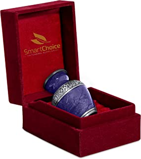 SmartChoice Small Urns for Human Ashes - Beautiful Cremation Keepsakes for Human Ashes with Velvet Box