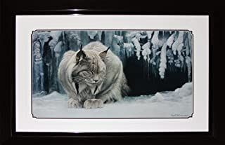 Midway Memorabilia Dozing Lynx by Robert Bateman Fine Art Print in Deluxe Collector Frame Finish