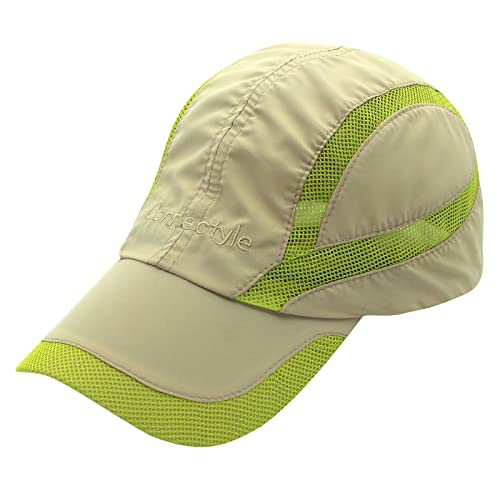 308c62dfa1439 Connectyle Quick Drying Mesh Sun Cap Lightweight Sports Hat Breathable Sun  Runner Cap