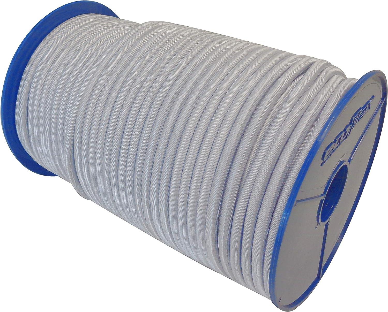 10m GUMMISEIL 10mm Expanderseil WEI/ß Gummischnur Gummikordel Gummiseile Spannseil Planenseil Gummileine Seil Plane Netz