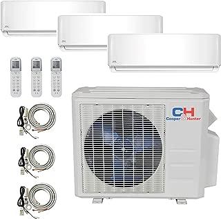 COOPER AND HUNTER Tri 3 Zone Ductless Mini Split Air Conditioner Heat Pump 12000 12000 24000 Multi