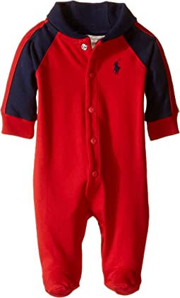 Rugby Jersey Shawl Collar Coverall (Infant)