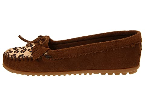 Minnetonka Leopard Kilty Moc Dusty Brown Clearance Factory Outlet Outlet Fashion Style 38TYe2Ve