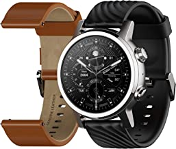 Moto 360 3rd Gen 2020 - Wear OS by Google - The Luxury Stainless Steel Smartwatch with Included Interchangeable Genuine Leather and High-Impact Sports Bands