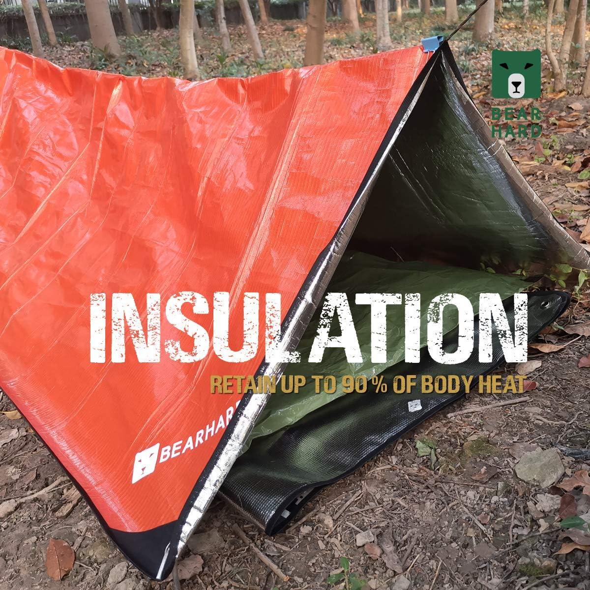 Bearhard 5.0 camping Manta de emergencia resistente para senderismo