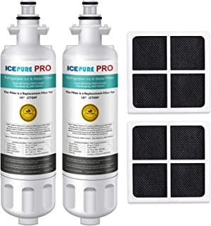 ICEPURE PRO LT700P NSF 53&42 Certified Refrigerator Water Filter and Air Filter, Compatible with LG LT700P, KENMORE 9690, 46-9690, ADQ36006101, ADQ36006102, LFXC24726S, and LT120F, RWF1200A, 2 Combo