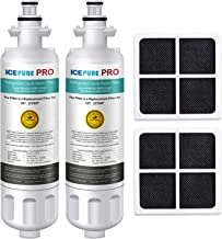 ICEPURE PRO LT700P NSF 53 Certified Replacement for LG ADQ36006101, Kenmore Elite 46 9690, LFXC24726S, 469690, ADQ36006102 LMXS27626S LFXS30766S Refrigerator Water and LT120F Fresh Air Filter,2Combo