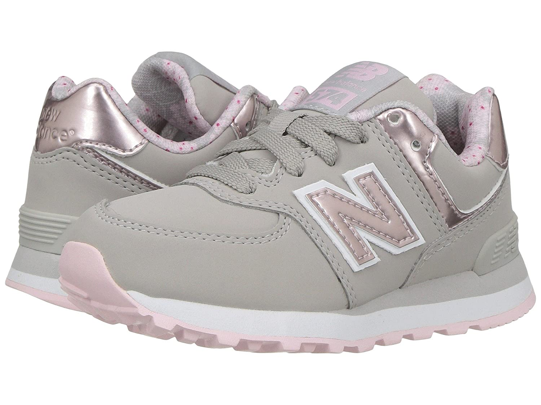 (ニューバランス) New Balance メンズランニングシューズ?スニーカー?靴 KL574v1 (Little Kid) Pink/Grey ピンク/グレー 13 Little Kid (19.5cm) M
