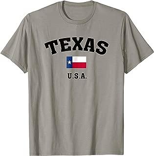 Texas USA with American Flag T Shirt