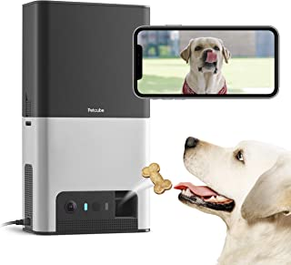 [New 2019] Petcube Bites 2 Wi-Fi Pet Camera with Treat Dispenser & Alexa Built-in, for Dogs and Cats. 1080p HD Video, 160° Full-Room View, 2-Way Audio, Sound/Motion Alerts, Night Vision, Pet Monitor
