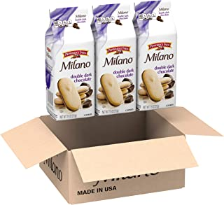 Pepperidge Farm, Milano, Cookies, Double Dark Chocolate, 7.5 Ounce (Pack of 3)