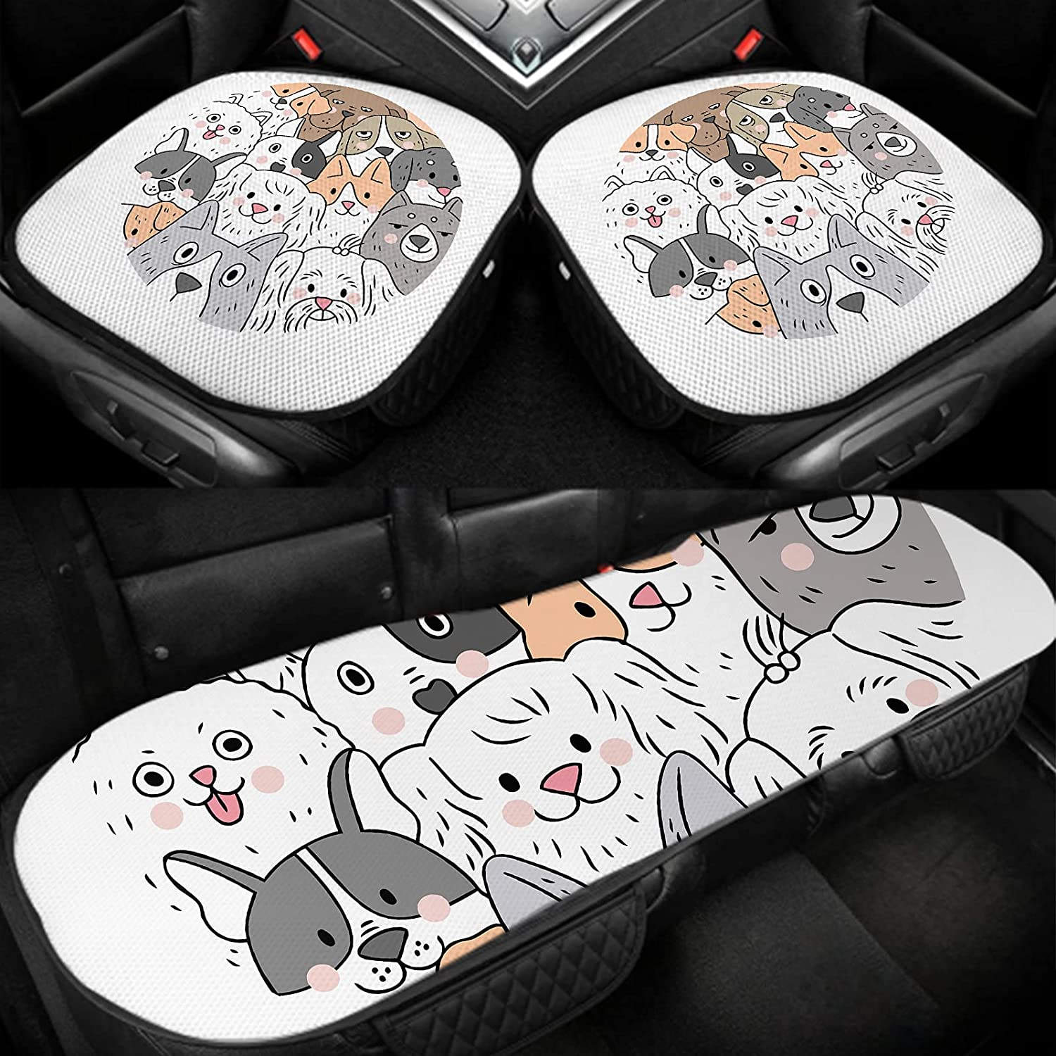 SSOIU Dogs Car Sales Seat Covers Cartoon Dog Puppy Doggy Animal In a popularity S Cute