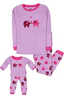 Kids & Toddler Pajamas Matching Doll & Girls Pajamas 100% Cotton Set (Toddler-14 Years) Fits American Girl