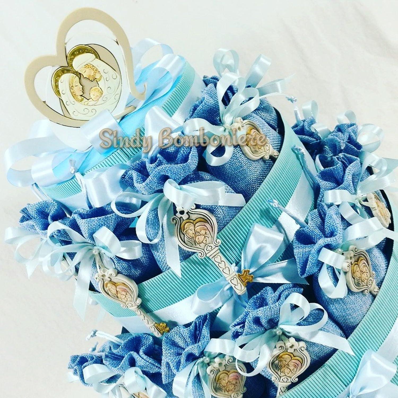 venta Bolsas para Confetti de yute con llave Sagrada Familia para para para bautizo macho  barato en alta calidad