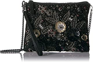 Mary Frances womens Pardon Me, Black Embellished Wristlet Handbag