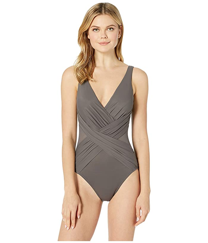 Miraclesuit Illusionists Crossover One-Piece (Mineral Grey) Women