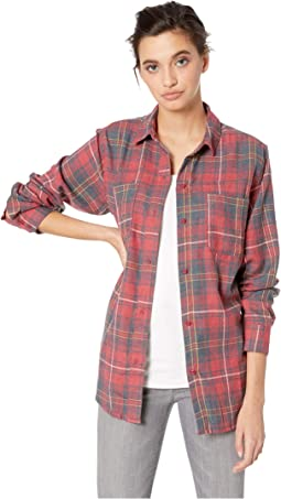 ea9530acf52f Pendleton petite favorite plaid flannel shirt red rock plaid ...