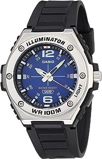 Casio Men's Heavy Duty Analog Stainless Steel Quartz Resin Strap, Black, 42 Casual Watch (Model: MWA-100H-2AVCF)