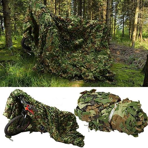 WNpb Camping Dédié au Camouflage Forestier Net au Filet de Camouflage, Chasse Tirant au Soleil Crème Solaire Net Caché Activités de Plein Air Pêche Film Maison de l'arbre, Différentes Tailles