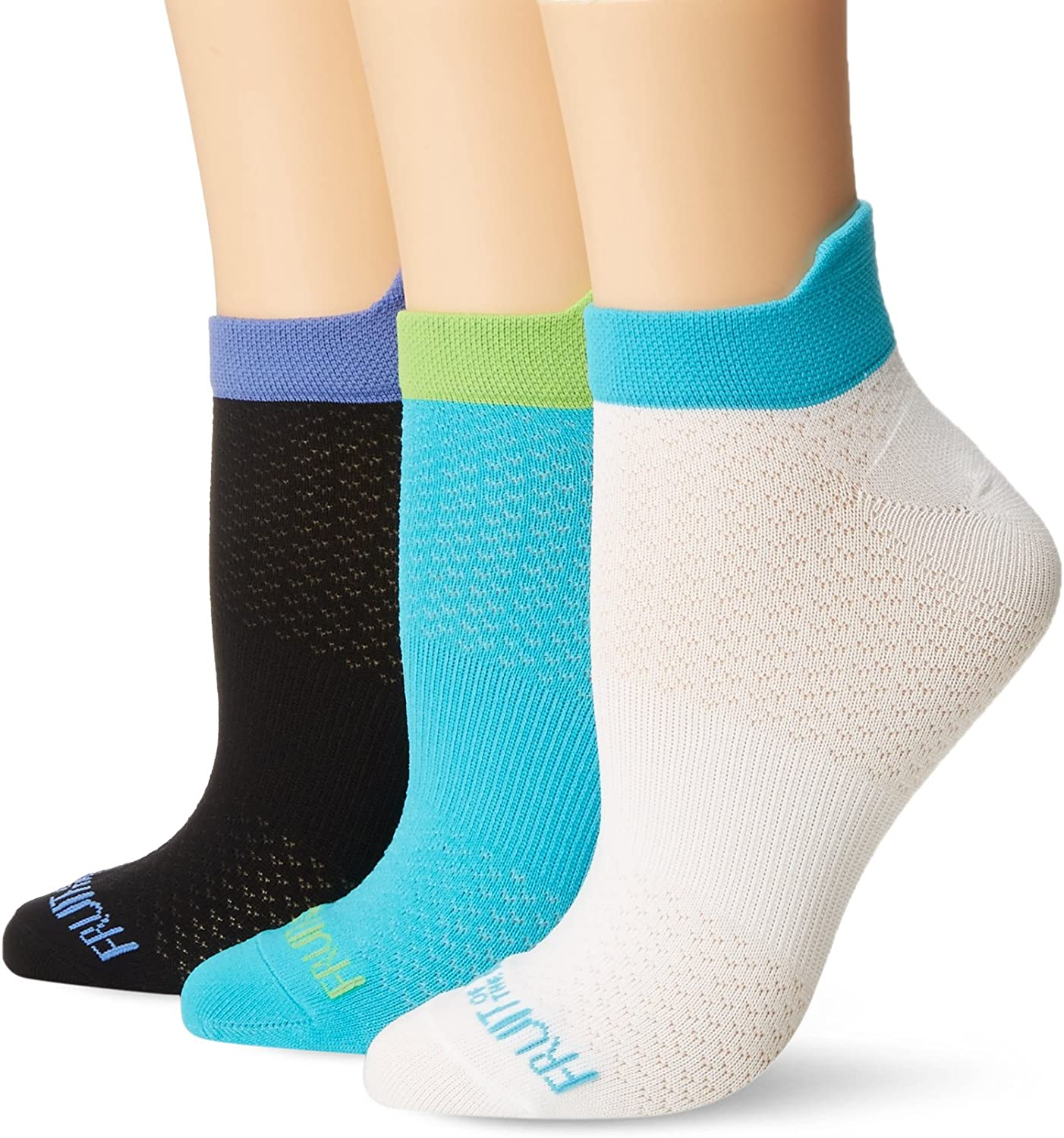 Fruit of the Loom womens 3 Pack Breathable No Show Flat Knit Tab Sock