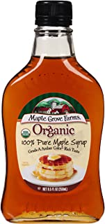 Maple Grove Farms Organic Pure Maple Syrup, Grade A Amber, 8.5 Ounce