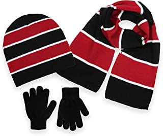 Polar Wear Boys Knit Hat, Scarf And Gloves Set (See More Colors)