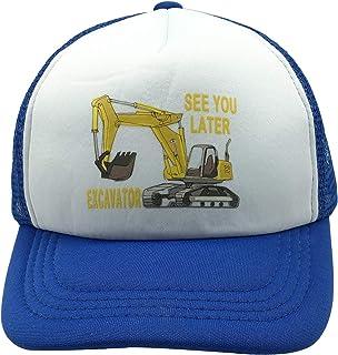 قبعة بيسبول NVJUI JUFOPL للأولاد مكتوب عليها See You Later Excavator Snapback شبكية مضحكة سائق شاحنة كاب للأطفال