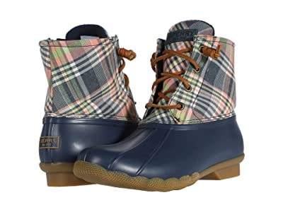 Sperry Saltwater Washed Plaid (Navy/Kick Back Plaid) Women