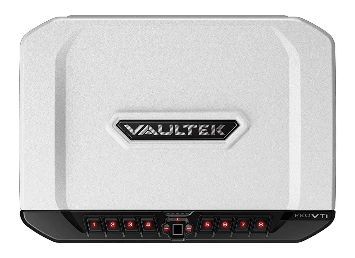 Vaultek VTi Full-Size Biometric Handgun Bluetooth Smart Safe Multiple Pistol Safe with Auto-Open Lid and Rechargeable Battery