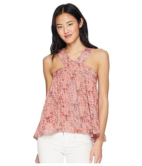 """JACK BY BB DAKOTA Lyla """"Beach Batik"""" Printed Top, Rosette Pink"""