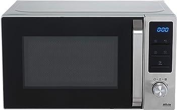 Silva-Homeline MWG-E 20.8 Inox - Microondas con grill (800-1000 W, pantalla LCD iluminada, 20 L, 5 niveles de potencia)