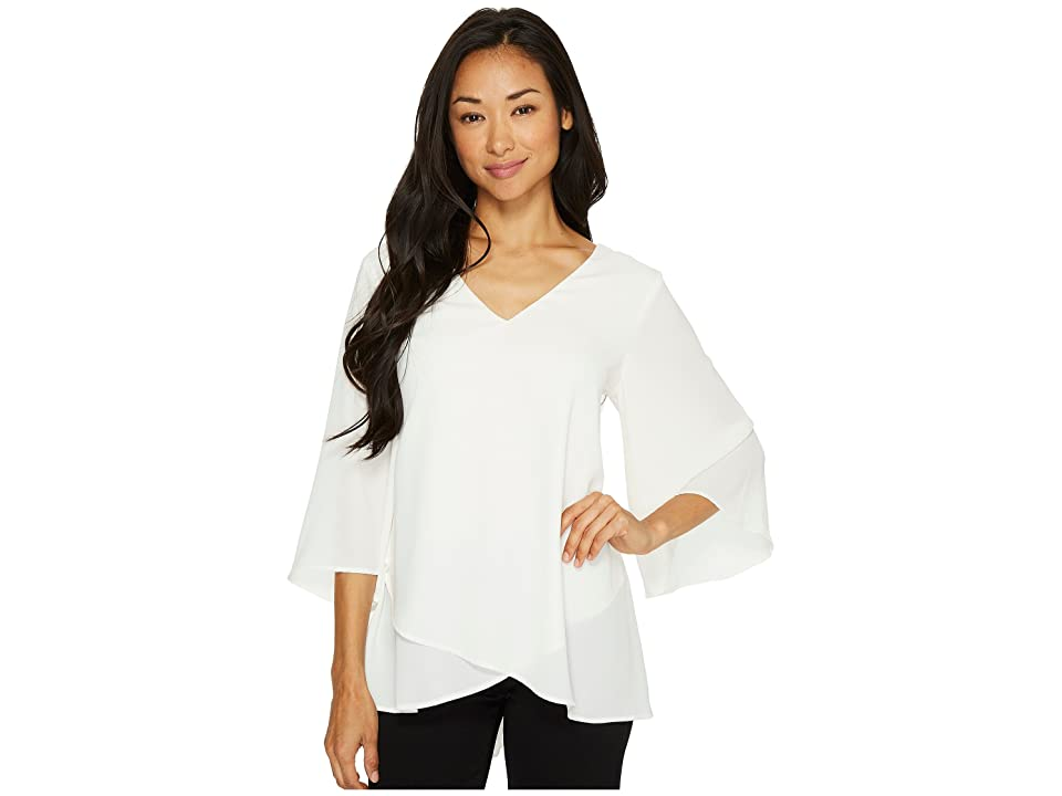 Karen Kane Bar-Back Crossover Top (Cream) Women