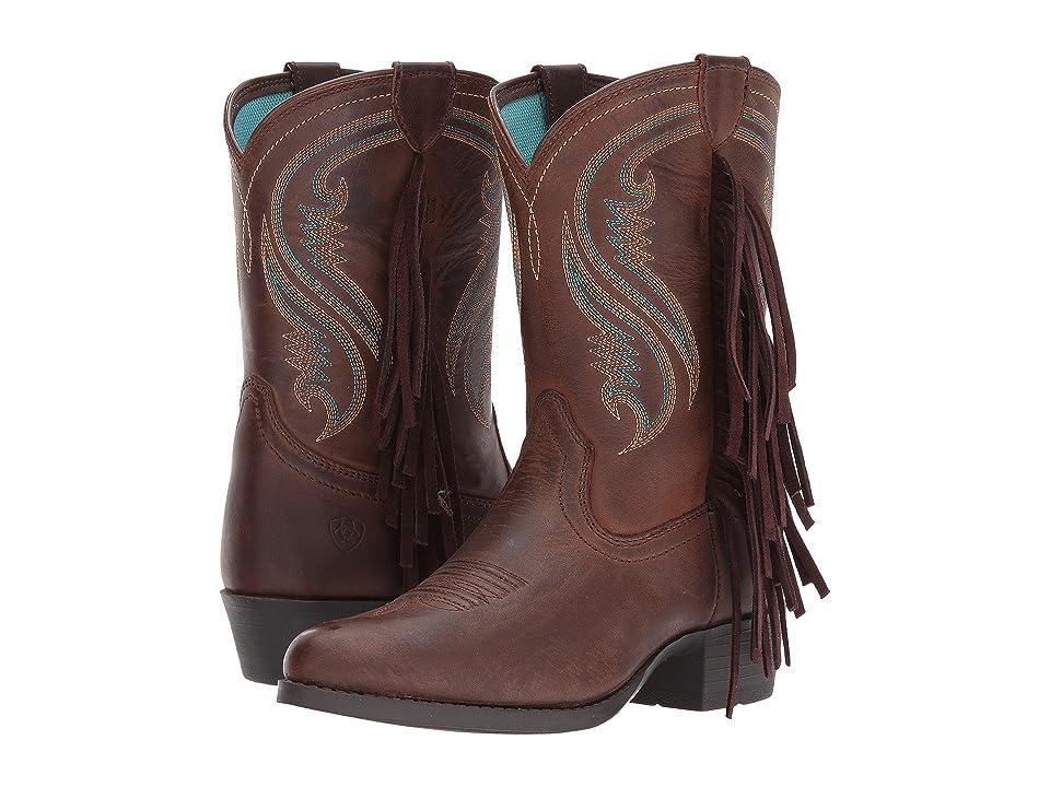 Ariat Kids Fancy Western (Toddler/Little Kid/Big Kid) (Sassy Chocolate) Cowboy Boots