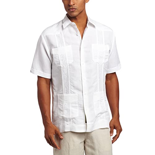 28440c47dd Cubavera Men s Short Sleeve Embroidered Guayabera Shirt