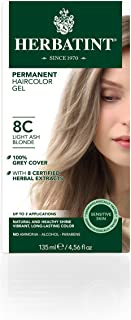Herbatint Permanent Herbal Haircolor Gel, Light Ash Blonde, 4.5 Ounce