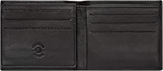 Nuvola Pelle Compact Slimline Leather Credit Card Holder Wallet for Men 9 Card Slots ID Window Black