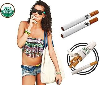 Potent Organic Hemp Cigarettes - Premium Tobacco Free Herbal Smokes (5 Hempettes)