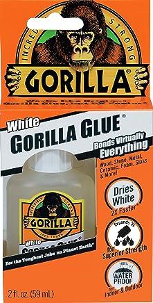 Gorilla White Glue, Waterproof, 2 ounce Bottle, White, (Pack of 1